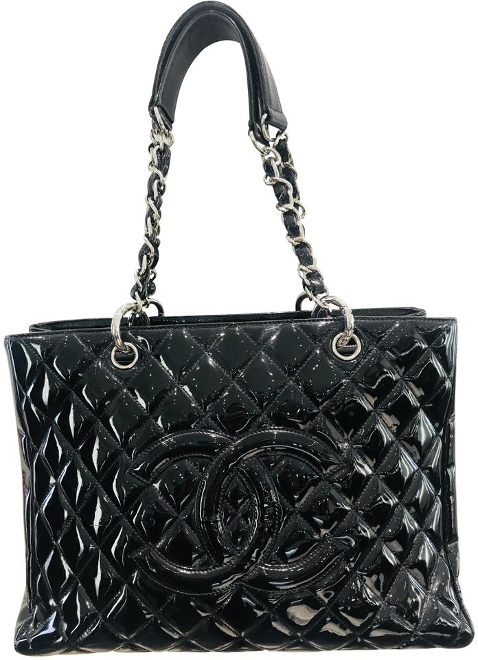 Chanel Grand Shopping Gst Black Patent Leather Tote - Tradesy b76d580819a3d
