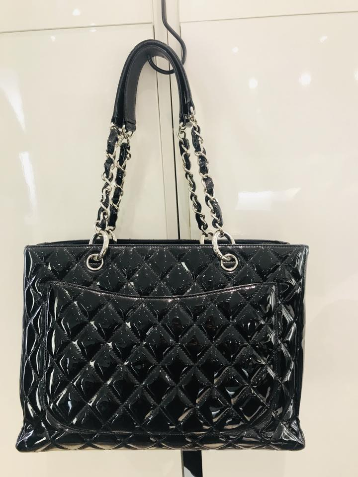 0730b75856cb Chanel Grand Shopping Gst Black Patent Leather Tote - Tradesy