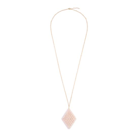 Riah Fashion Wired Diamond Pendent Natural Stone Necklace Image 1