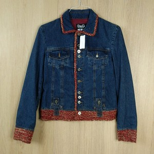 Dolce&Gabbana Tweed Rhinestone Womens Jean Jacket