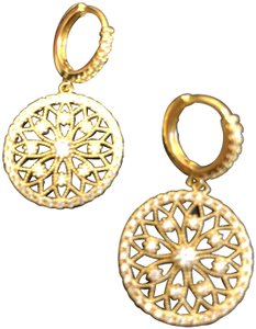 Knowlesandcompany Knowlesandcompany Gold plated filigree drop earring