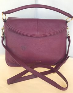 Cole Haan Leather Gold Tone Cross Body Bag