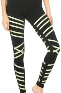 Alo black and neon leggings