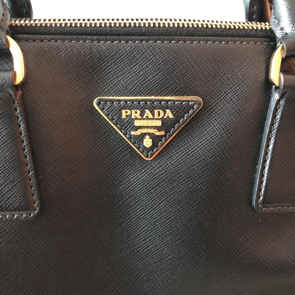 15e58b1a101002 Prada Promenade Medium Black Saffiano Leather Satchel - Tradesy