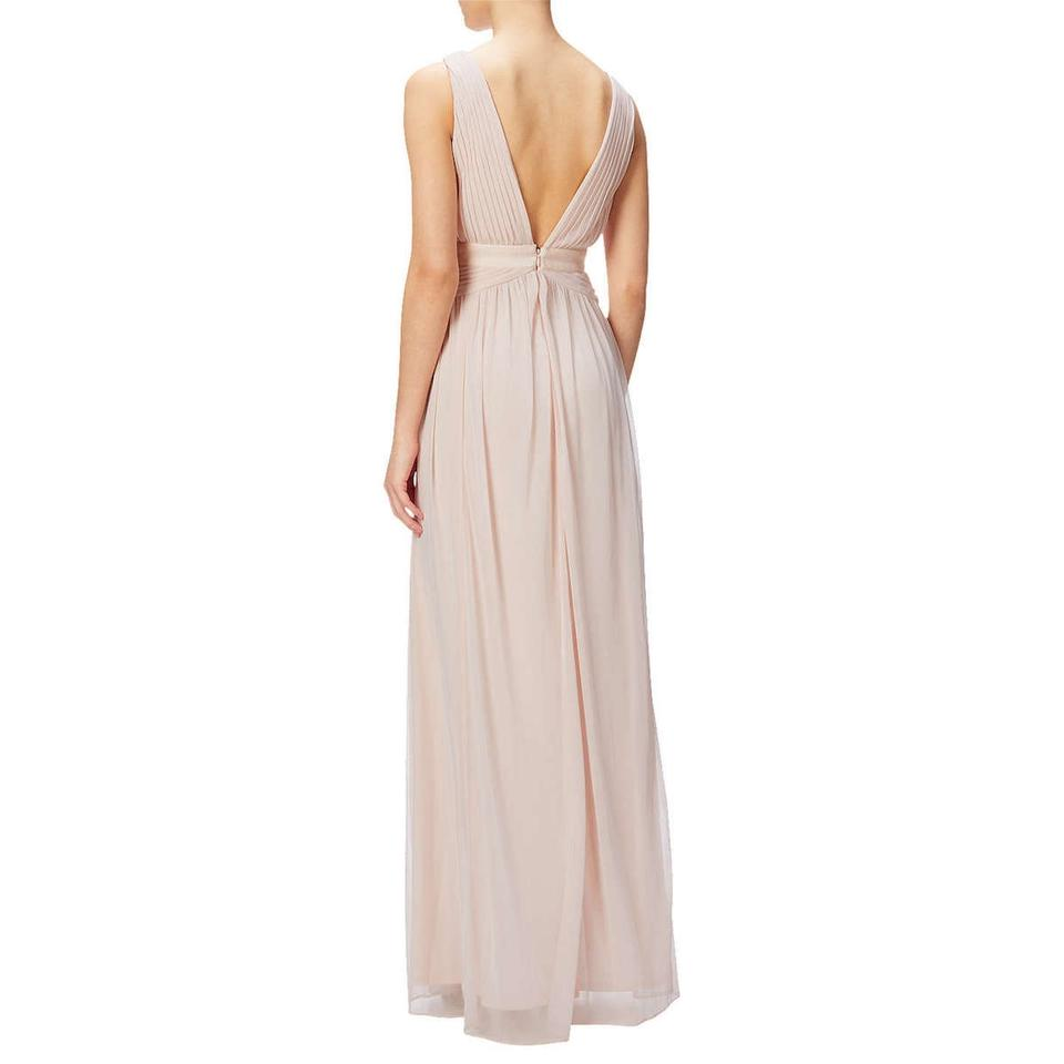 Adrianna Papell Blush Sleeveless Lace Stretch Tulle Gown Long Formal ...