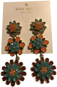 Kate Spade bold blooms multi color Earrings, New