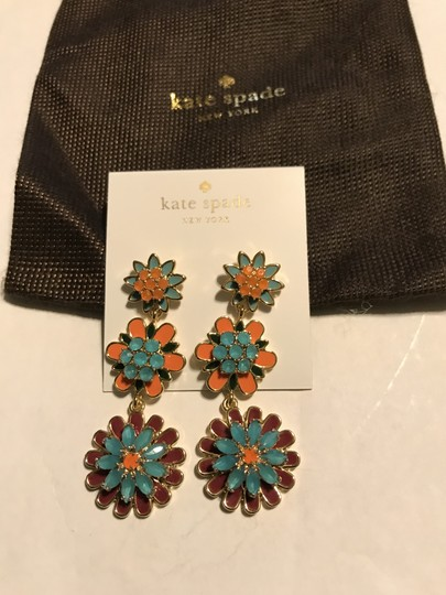 Kate Spade bold blooms multi color Earrings, New Image 1