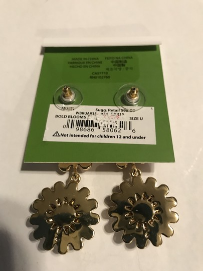 Kate Spade bold blooms multi color Earrings, New Image 2