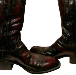 Dan Post Boots Deep Dark Burgundy, Black & Red Accents. Boots