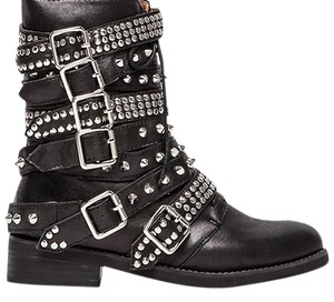 Jeffrey Campbell Black Leather Studded Boots
