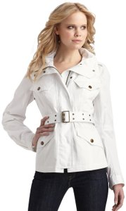 Burberry Brit Hooded Windbreaker Belted Trench Coat