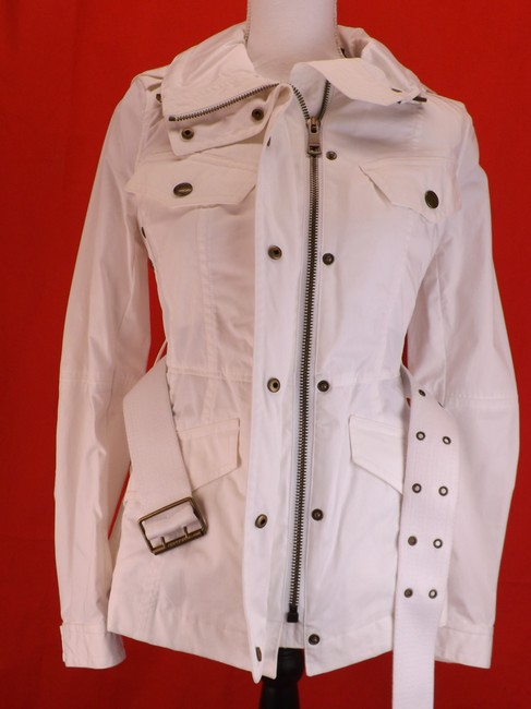Burberry Brit Hooded Windbreaker Belted Trench Coat Image 3