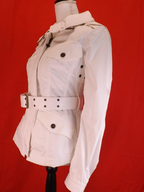 Burberry Brit Hooded Windbreaker Belted Trench Coat Image 4