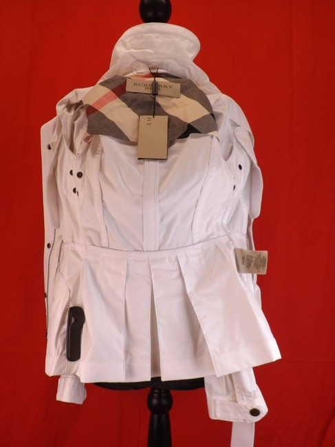Burberry Brit Hooded Windbreaker Belted Trench Coat Image 5