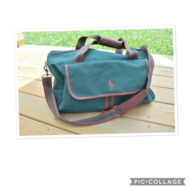 Item - Duffle Green & Tan Canvas Weekend/Travel Bag