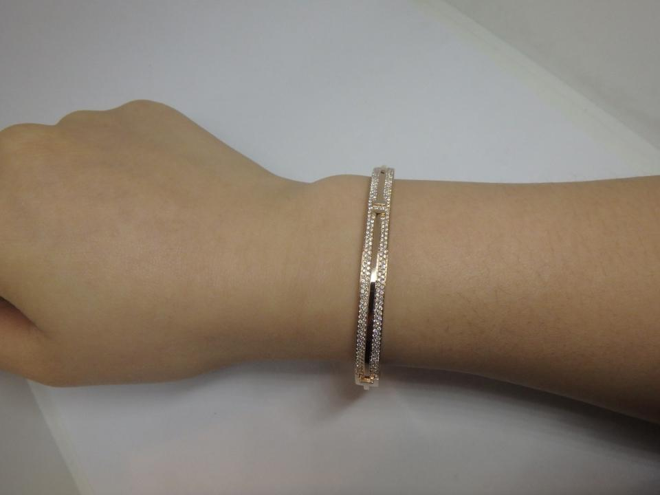 b29c48ae8 Tiffany & Co. 18k Rose Gold and Diamonds T Two Hinged Bracelet - Tradesy