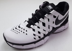 Nike White and Black Lunar Fingertrap Size 9 Mens Sneakers 898066 Tr Train Shoes