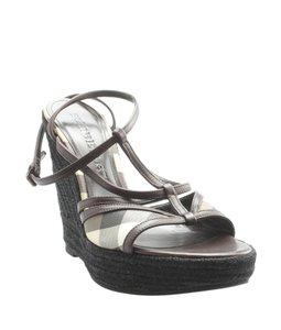 Burberry Straw Brown Wedges