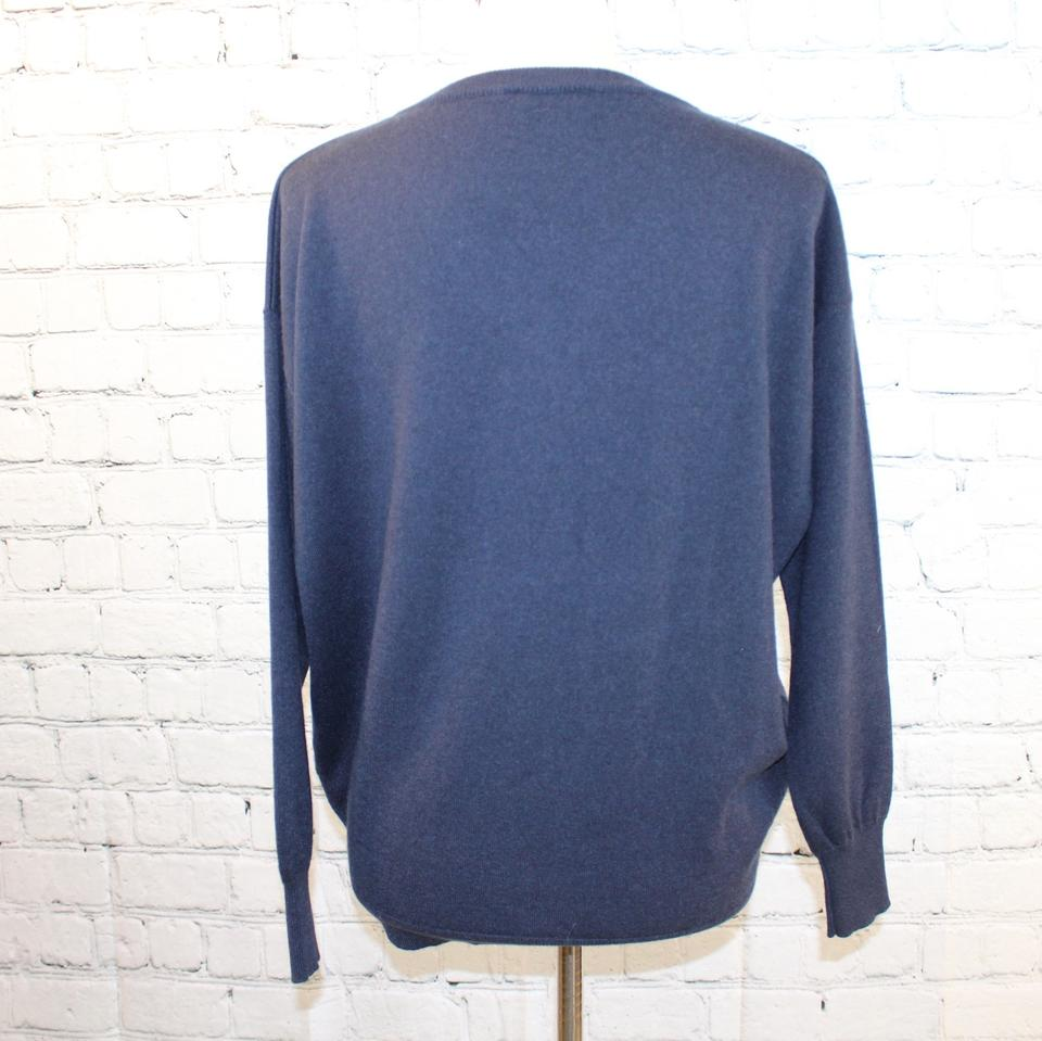 with Monili Cucinelli Pullover Navy Sweater Brunello Cashmere Beading Ia8xtnqwq