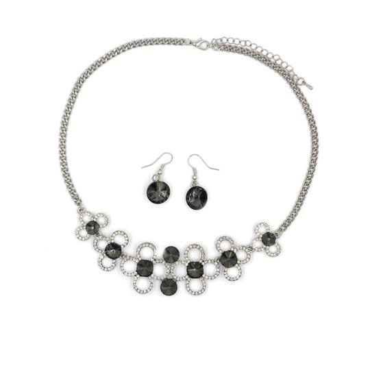 Preload https://img-static.tradesy.com/item/23375565/silver-gray-crystal-earrings-sets-necklace-0-0-540-540.jpg