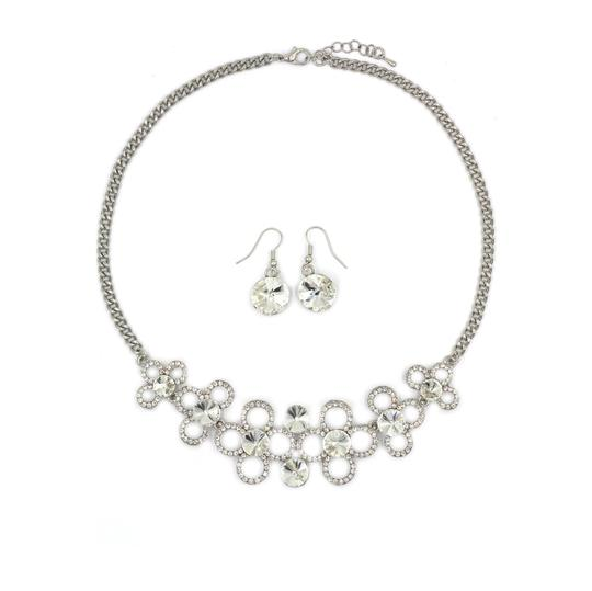 Preload https://img-static.tradesy.com/item/23375570/silver-white-crystal-earrings-sets-necklace-0-0-540-540.jpg