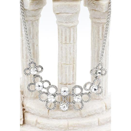 Ocean Fashion Silver White crystal necklace earrings sets Image 4