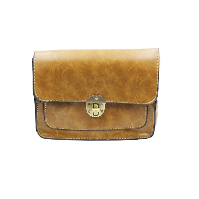 Item - Traditional Sweet Lady Small Purse Yellow Faux Leather Shoulder Bag