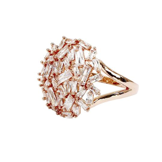 Ocean Fashion Fashion small square rose gold crystal ring Image 1