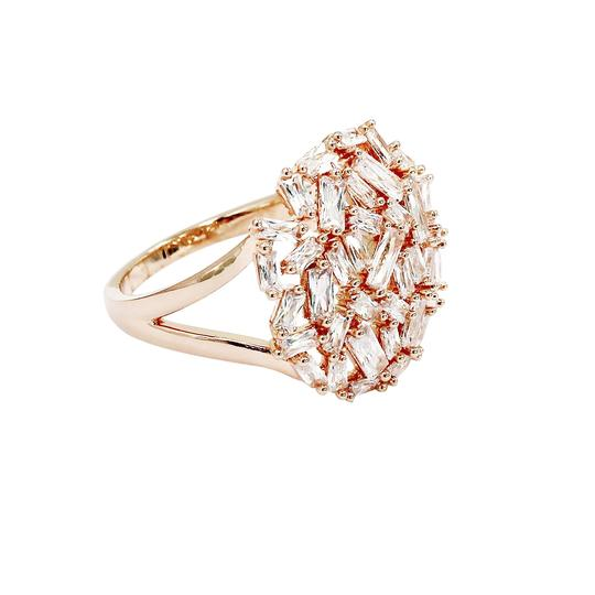Ocean Fashion Fashion small square rose gold crystal ring Image 2