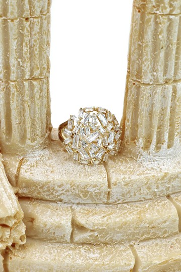 Ocean Fashion Fashion small square rose gold crystal ring Image 6