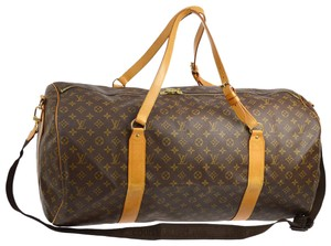 Louis Vuitton [ebay Sold] Monogram Sac Polochon 2way Bandouliere 866856  Brown Coated Canvas Weekend/Travel Bag