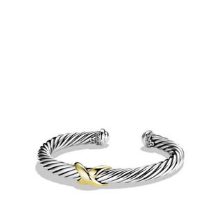 David Yurman 7mm cable classics bracelet with gold X