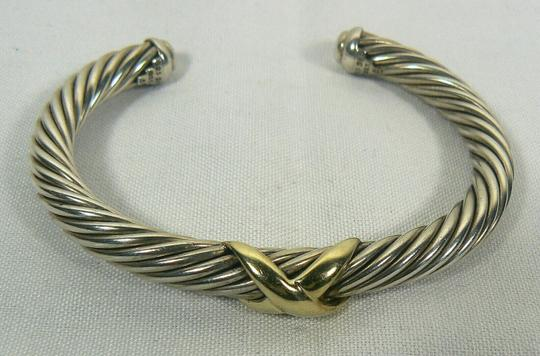 David Yurman 7mm cable classics bracelet with gold X Image 1