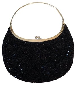 La Regale Black Beaded Clutch