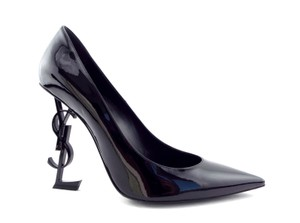Saint Laurent Ysl Opyum Ysl Logo Ysl 41 Black Pumps