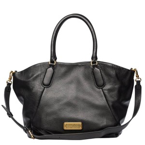 Marc Jacobs Mj Italian Leather Purse Tote in Black/Gold hardware