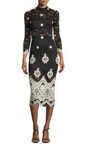 Alexis Floral Party Lace Pencil Sheer Dress