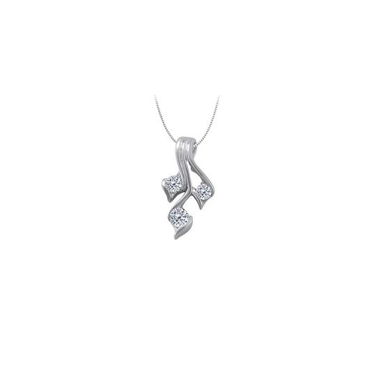 Preload https://img-static.tradesy.com/item/23376022/white-three-stone-cubic-zirconia-pendant-in-14k-gold-025-ct-tgwperfec-necklace-0-0-540-540.jpg