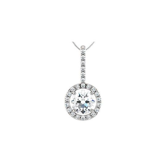 Preload https://img-static.tradesy.com/item/23376045/white-triple-aaa-quality-cubic-zirconia-halo-style-drop-pendant-in-14k-necklace-0-0-540-540.jpg
