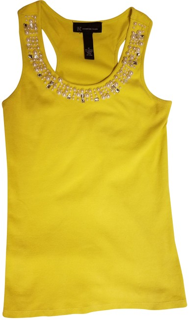 Preload https://img-static.tradesy.com/item/23376186/inc-international-concepts-lemon-pearls-stones-tank-topcami-size-8-m-0-1-650-650.jpg