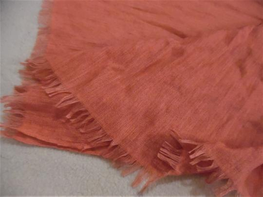 Unbranded Woven Lightweight Raw Ends Sheer Boho Scarf Image 2