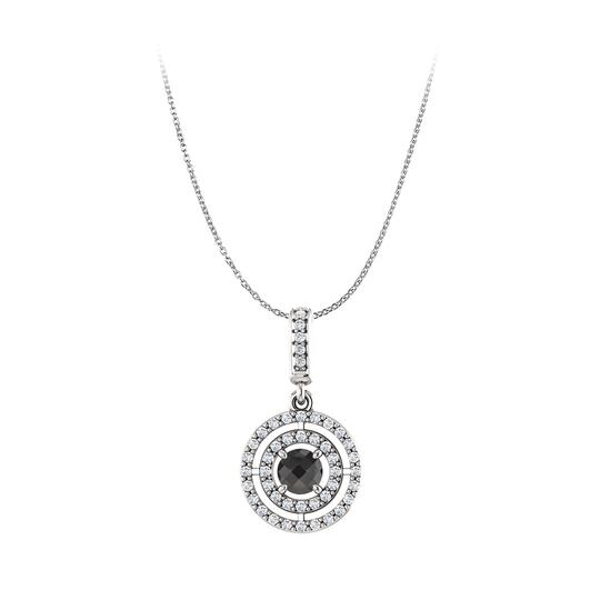 Preload https://img-static.tradesy.com/item/23376435/black-white-gold-onyx-cz-double-circle-pendant-in-14k-necklace-0-0-540-540.jpg