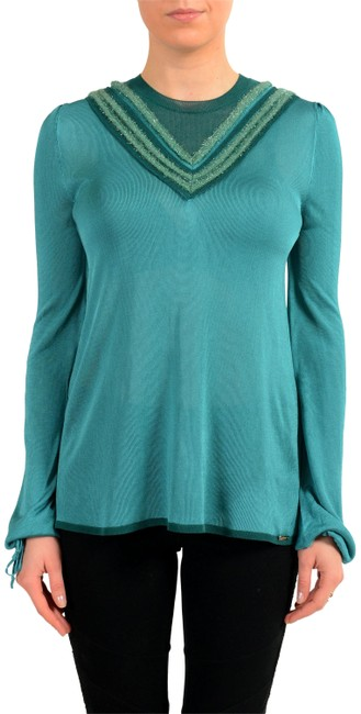 Preload https://img-static.tradesy.com/item/23376586/just-cavalli-green-kj-11547-sweaterpullover-size-4-s-0-1-650-650.jpg