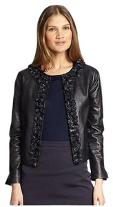 Tory Burch Small Black Coat Sale Leather New Leather Coat Black Leather navy Jacket