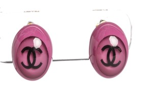 Chanel Chanel Pink Resin CC Bubble Clip On Earrings 01P
