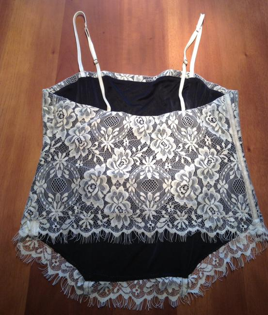 The Limited Top Black and cream lace