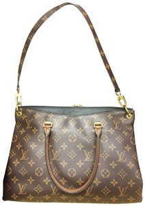 Louis Vuitton Pallas Noir Monogram Handbag Shoulder Bag