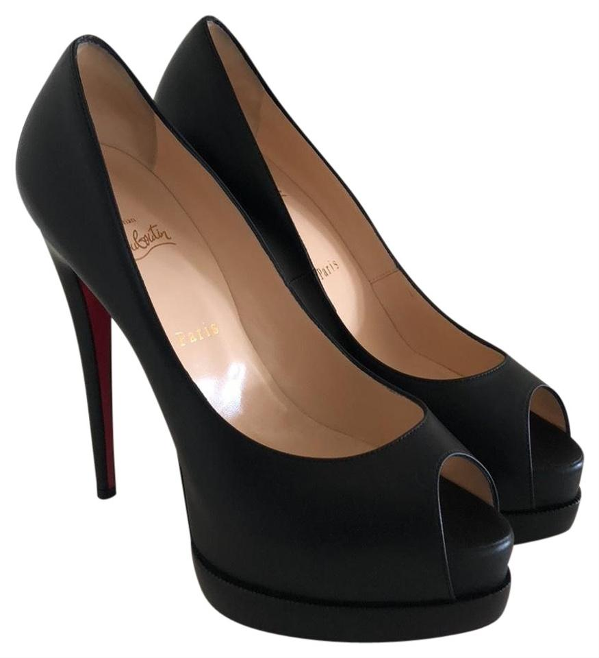 reputable site 5afe7 2499d Christian Louboutin Black Leather Palais Royal Trepointe Platforms Size EU  41 (Approx. US 11) Regular (M, B) 38% off retail