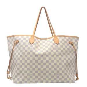 Louis Vuitton Damier Azur Neverfull Gm Damier Canvas Tote in White