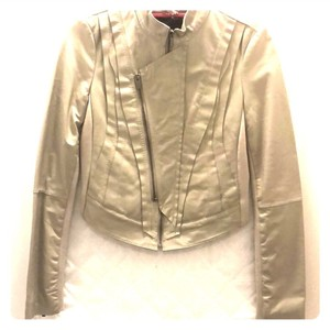 BCBGMAXAZRIA Beige Leather Jacket